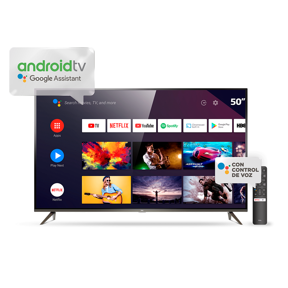 Smart Tv Tcl 50 4k 50P8m Uhd Android Tv