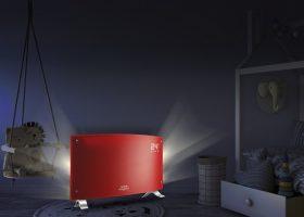 Vitroconvector eléctrico curvo rojo Peabody PE-VQM20