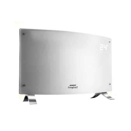 Vitroconvector digital blanco curvo Peabody Led PE-VQDL20