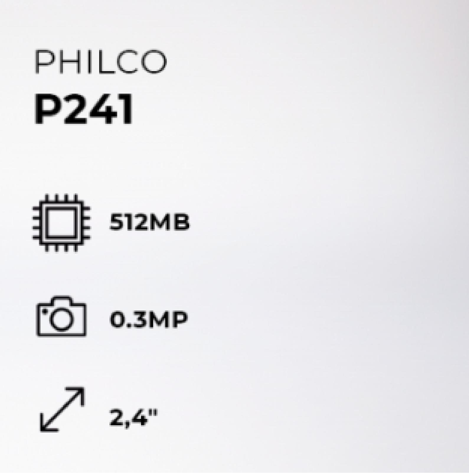 Celular Philco P241 Dual SIM 512 MB